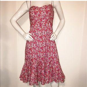 J. Cre Liberty Fabric Floral Ruffle hem dress 10